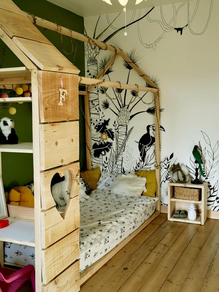 Diy Lit Cabane 90X190 lit cabane montessori - milloou - décoration d'intérieur